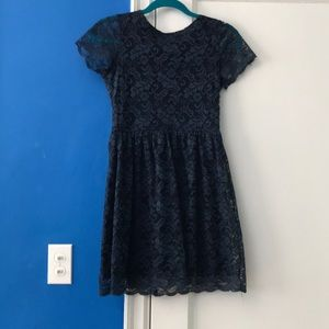 Navy blue lace AQUA dress